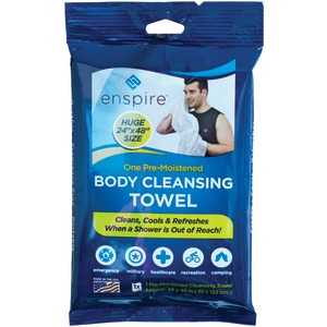 ENSPIRE 2ft x 4ft Body Cleansing Towel E2X41