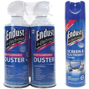 ENDUST 2 Pack Cleaning Kit With Multi-surface Anti-static Cleaner & 2 Ct (10 Oz) Electr NOZMSDUSTKIT
