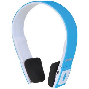Bluetooth(R) Headphones with Microphone (Blue)