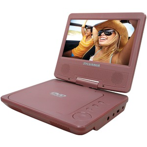 SYLVANIA 7 Inch. Portable DVD Player (Pink) SDVD7014 PINK