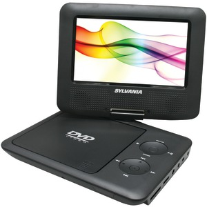 SYLVANIA 7 Inch. Swivel-Screen Portable DVD Player (Black) SDVD7027 BLACK