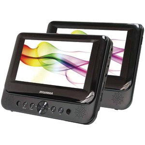 SYLVANIA 7 Inch. Dual-Screen Portable DVD Player SDVD8739