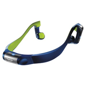 Bluetooth(R) Bone Conduction Headphones with Microphone (Blue)