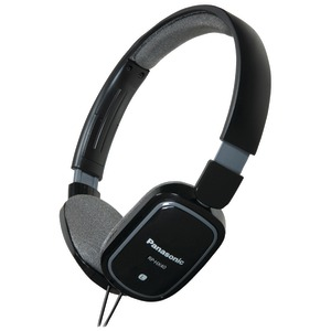 SLIMZ Lightweight On-Ear Headphones with iPad(R)-iPhone(R)-iPod(R) Controller (Black)