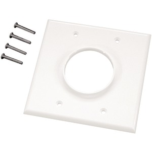 Double-Gang Wireport(TM) Wall Plate (White)