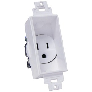 MIDLITE Single-Gang Dcor Recessed Receptacle 4641-W