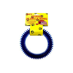 duke's Spike fling-a-ring dog toy - (Case pack of 24) DI380