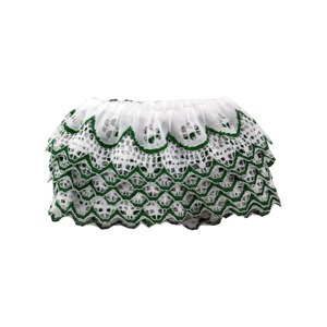 4 Yard Green & White Ruffled Lace Trim - (Case pack of 20)
