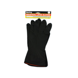 1 Pair of industrial latex gloves - (Case pack of 24)