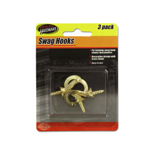 Decorative swag hooks - (Case pack of 24)