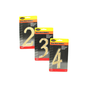 Brass house numbers (0-9) - (Case pack of 20)