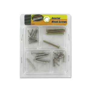 Assorted wood screws - (Case pack of 24)