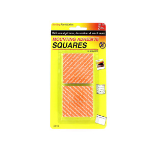 Mounting adhesive squares - (Case pack of 12)