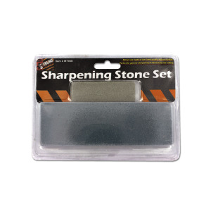 Sharpening stone set - (Case pack of 24)