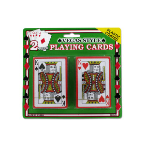Plastic Coated Playing Cards - (Case pack of 24)