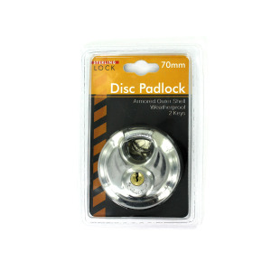 Deluxe Disc Padlock - (Case pack of 4)