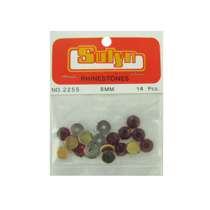 bulk buys Red rhinestones pack of 14 - (Case pack of 24) CN671