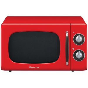 MAGIC CHEF(R) .7 Cubic -ft 700-Watt Retro Microwave (Red) MCD770CR