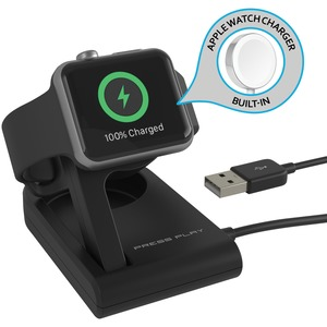 ONE Dock SOLO MFi-Certified Power Station with Built-in Apple Watch(R) Charger (Black)