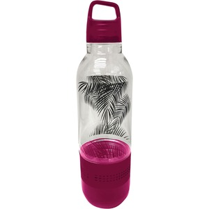 SYLVANIA(R) Holographic Light Water Bottle with Integrated Bluetooth(R) Speaker (Pink) SP717-PINK