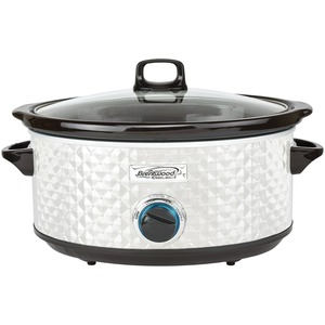 BRENTWOOD(R) APPLIANCES 7-Quart Slow Cooker (Pearl White) SC-157W
