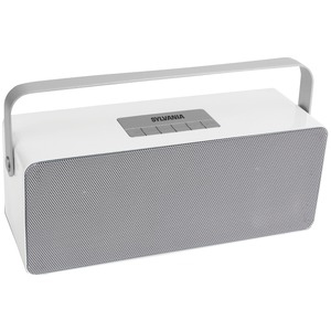 Portable Bluetooth(R) Speaker with Aluminum Handle (White)