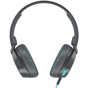 SKULLCANDY(R) Riff On-Ear Wired Headphones with Microphone (Gray/Speckle/Miami Blue) S5PXY-L637