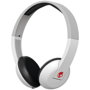 Uproar Bluetooth(R) Over-the-Ear Headphones with Microphone (White/Gray)