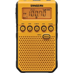 SANGEAN(R) AM/FM Weather Alert Pocket Radio (Yellow) DT-800YL