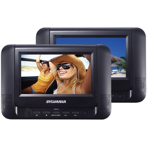 SYLVANIA(R) 7 inch. Dual Screen/Dual DVD Portable DVD Players SDVD8791