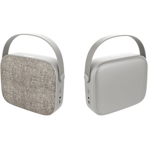 SYLVANIA(R) Portable Bluetooth(R) Retro-Design Fabric Speaker (Sand) SP434-SAND