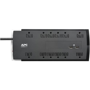 APC(R) 12-Outlet SurgeArrest(R) Performance Series Surge Protector with 2 USB Ports, 6ft Cord P12U2