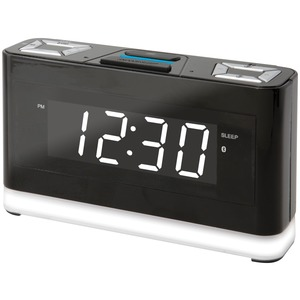 ILIVE PLATINUM Bluetooth(R) Voice-Activated Clock with Amazon(R) Alexa(R) Compatibility ICWFV428B