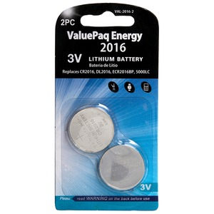 DANTONA(R) ValuePaq Energy 2016 Lithium Coin Cell Batteries, 2 pk VAL-2016-2