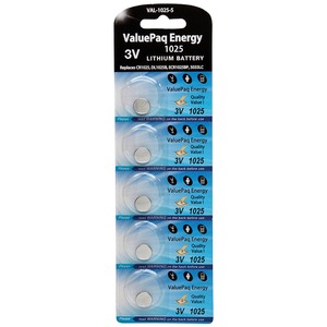 DANTONA(R) ValuePaq Energy 1025 Lithium Coin Cell Batteries, 5 pk VAL-1025-5