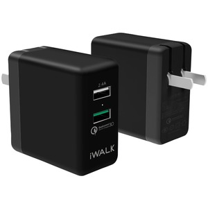 Home Charger with Dual USB Ports (Black)