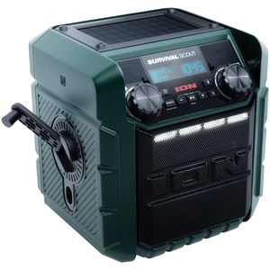 ION(R) Survival Scout(TM) Solar-Charging Portable Radio with Bluetooth(R) IPA95