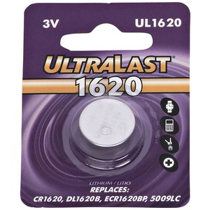 ULTRALAST(R) UL1620 CR1620 Lithium Coin Cell Battery UL1620