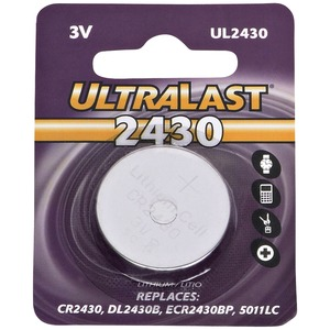ULTRALAST(R) UL2430 CR2430 Lithium Coin Cell Battery UL2430