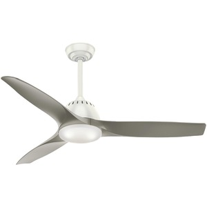 CASABLANCA(R) FAN COMPANY 52 inch. Wisp Fresh White Ceiling Fan with 3 Pewter Blades 59151