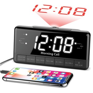 ILUV(R) Morning Call 3 Clock Radio with Projection MORCAL3ULBK
