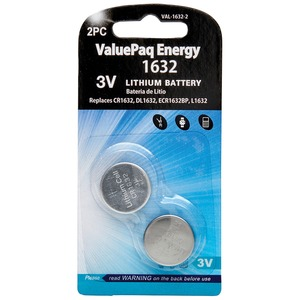 DANTONA(R) ValuePaq Energy 1632 Lithium Coin Cell Batteries, 2 pk VAL-1632-2