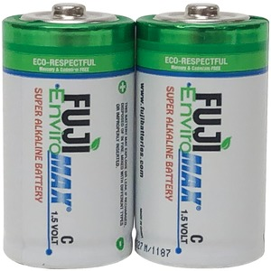FUJI BATTERIES EnviroMax(TM) C Super Alkaline Batteries, 2 pk 4200BP2
