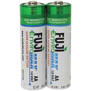 FUJI BATTERIES EnviroMax(TM) AA Digital Alkaline Batteries (2 pk) 4300BP2