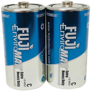 FUJI BATTERIES EnviroMax(TM) C Extra Heavy-Duty Batteries, 2 pk 3200BP2