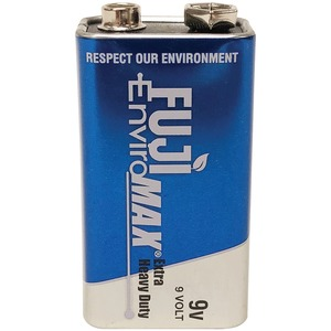 FUJI BATTERIES EnviroMax(TM) 9-Volt Extra Heavy-Duty Battery 3600BP1