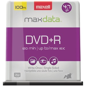 MAXELL(R) 4.7GB 120-Minute DVD+Rs (100-ct Spindle) 639016