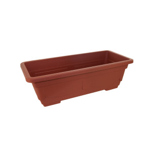 bulk buys Rectangular Clay-Look Plastic Flower Pot - (Case pack of 8) UU764