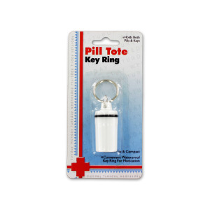 bulk buys Pill tote key ring - (Case pack of 12) GR042