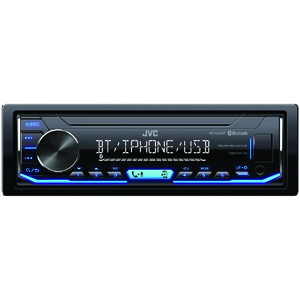 JVC(R) MOBILE KD-X255BT Single-DIN In-Dash AM/FM Digital Media Player with Bluetooth(R) KD-X255BT